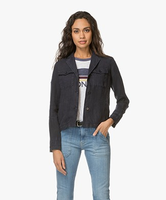 Josephine & Co Laurette Linen Jacket - Navy