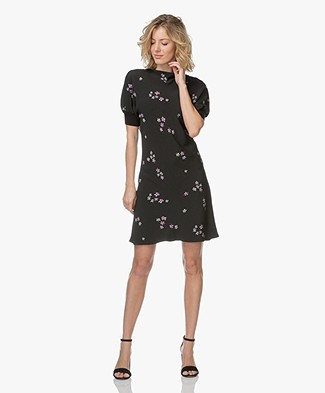 Vanessa Bruno Issou Floral Printed Dress - Black