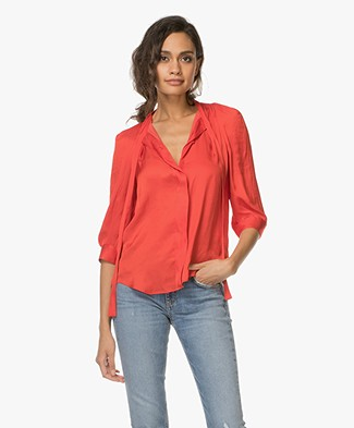 Zadig & Voltaire Touch Satin Blouse - Japon