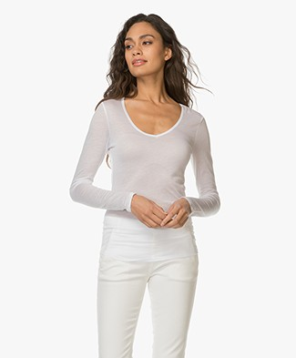 f2141717978c Closed Jersey Long Sleeve T-shirt - White