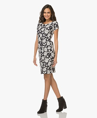 Josephine & Co Lizanne Jersey Dress - Print Navy