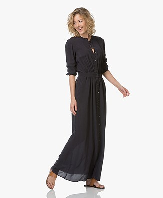 Vanessa Bruno Iris Cupro Maxi Dress - Black