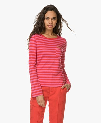 Zadig et Voltaire Regy Striped Long Sleeve - Flamingo