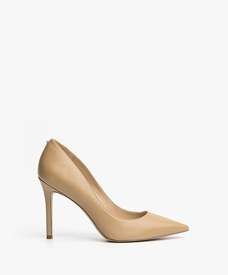 Sam Edelman Hazel Leather Heels - Nude Classic