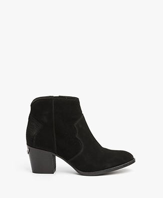 Zadig & Voltaire Molly Suede Ankle Boots - Black