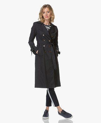 BOSS Ofierra Trenchcoat - Dark Blue