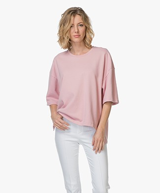Closed Short Sleeve Sweatshirt - Candy