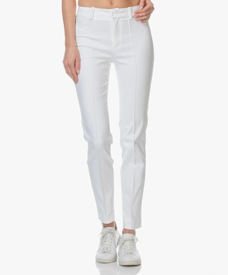Drykorn Act Katoenmix Pantalon met Stretch - Wit