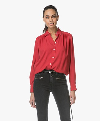 Filippa K Feminine Shirt - Rouge