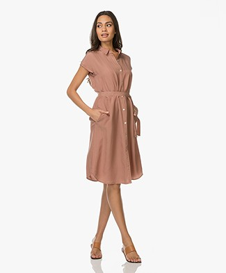 LaSalle Cupro Shirt Dress - Bisquit