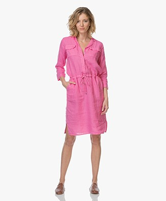 LaSalle Linen Shirt Dress - Pink