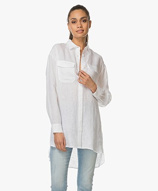 Majestic Linen Blouse - White