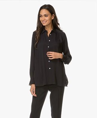 Filippa K Feminine Shirt - Navy