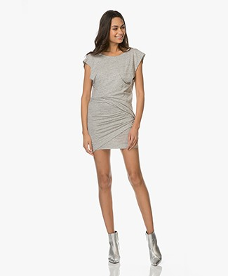 IRO Balea Jersey Dress with Unique Pleats - Light Grey