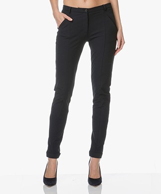 JapanTKY Leiko Slim-fit Jersey Pants - Blue Black