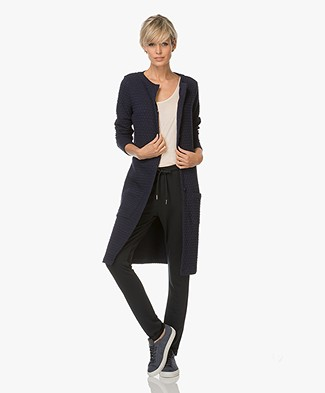 Josephine & Co Laurinde Long Jersey Blazer - Navy