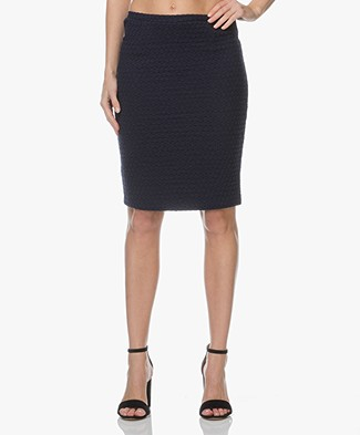 Josephine & Co Linda Jersey Pencil Skirt - Navy