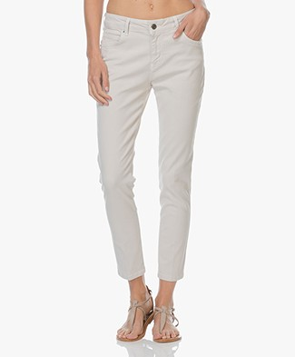 Vanessa Bruno Heddy Cropped Skinny Jeans - Light Beige