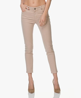 Vanessa Bruno Heddy Cropped Skinny Jeans - Powder Beige