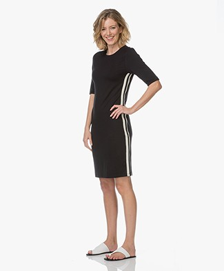 Josephine & Co Rami Knee-length Jersey Dress - Navy