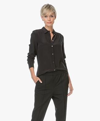 Filippa K Classic Silk Shirt - Black