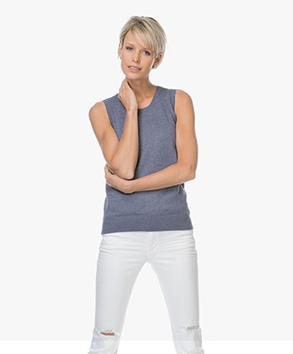 Repeat Sleeveless Cotton Blend Pullover - Night
