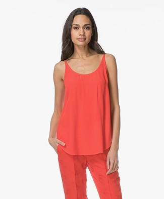 ba&sh Figue Reversible Crêpe Top - Grenadine