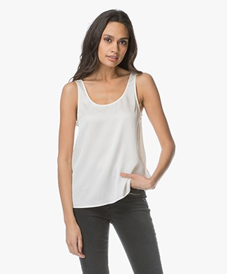 Filippa K Drapey Silk Tank - Cream