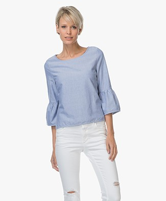 Josephine & Co Lenita Blouse with Ruffle Sleeves - Jeans