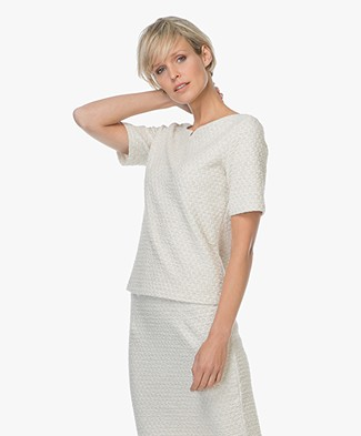 Josephine & Co Lenna T-shirt met Stippen - Silver Grey