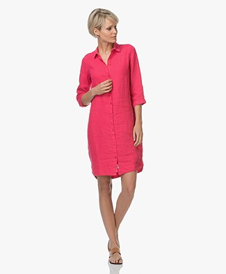 Josephine & Co Lian Linen Shirt Dress - Magenta