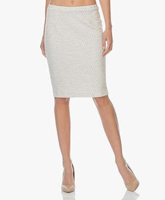 Josephine & Co Linda Jersey Pencil Skirt - Silver Grey
