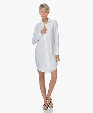 Josephine & Co Lyda Linen Shirt Dress - White