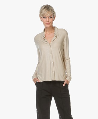 Majestic Superwashed Jersey Blouse - Metal Gold