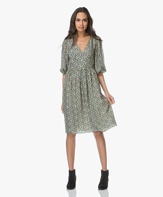 Vanessa Bruno Ilkie Printed Silk Dress - Forest