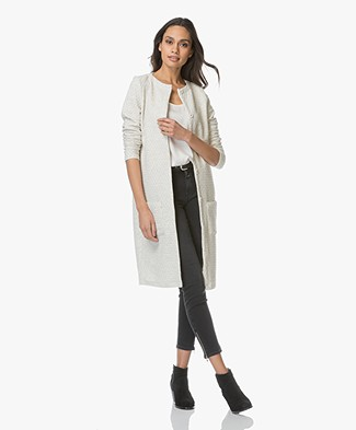 Josephine & Co Laurinde Long Jersey Blazer - Silver Grey