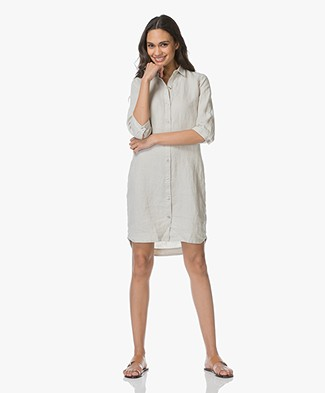 Josephine & Co Lian Linen Shirt Dress - Silver Grey