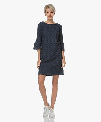Josephine & Co Luca Dress in Broderie Anglaise - Navy