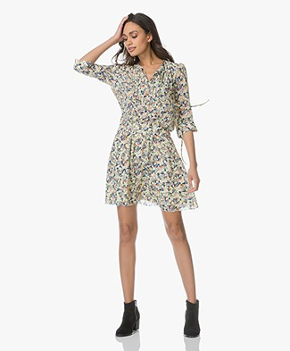 Zadig & Voltaire Remus Silk Flower Dress - Multicolor