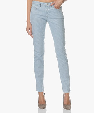 Closed Baker Gestreepte Slim-Fit Jeans - Lichblauw
