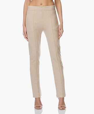 Joseph Jog Molleton French Terry Sweatpants - Beige Mêlee