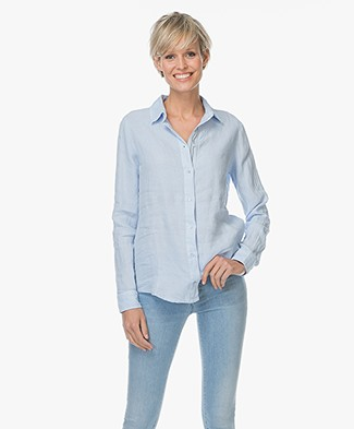 Josephine & Co Leentje Linen Shirt - Light Blue