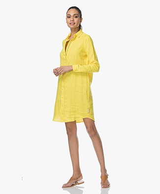 Josephine & Co Lyda Linen Shirt Dress - Yellow