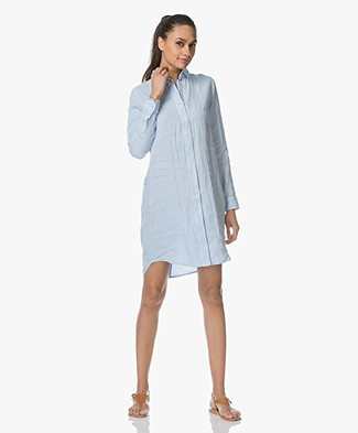 Josephine & Co Lyda Linen Shirt Dress - Light Blue