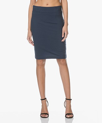 Kyra & Ko Pique Jersey Pencil Skirt - Navy