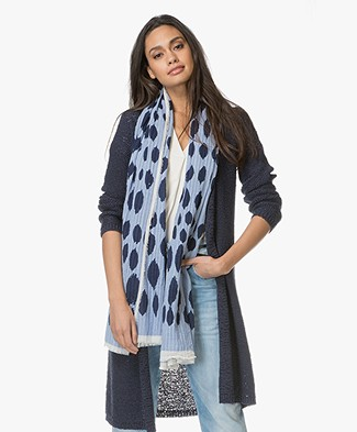 Kyra & Ko Leona Fancy Dots Scarf - Light Blue