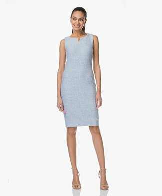 Kyra & Ko Tatum Sleeveless Jacquard Dress - Light Blue
