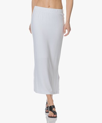 BRAEZ Salva Jersey Midi-skirt - White