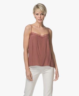 BY-BAR Isa Crepe Lace Camisole - Plum