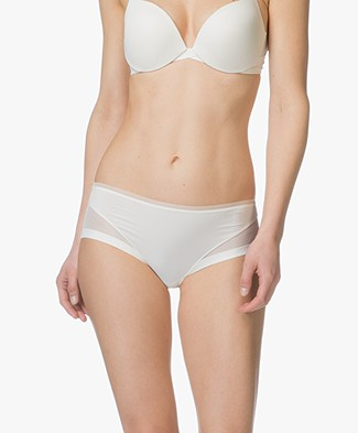 Calvin Klein Sculpted Mesh Hipster - Ivory